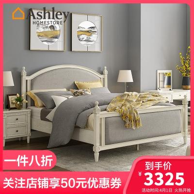 Ashley愛室麗臥室美式床復古單人床雙人床 1.5米床 1.8米床 時尚簡約床 輕奢軟包床實木床公主大 床床頭柜