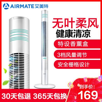 艾美特(Airmate) 電風扇 FT41 塔扇 無葉電風扇 3檔 家用 搖頭風扇 落地扇 空調伴侶