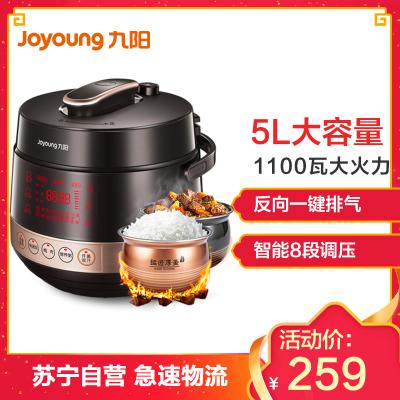 九阳(Joyoung)电压力锅Y-50C80 电高压锅 球形双胆微电脑触控式 预约定时高压锅 容量5L 3-6人