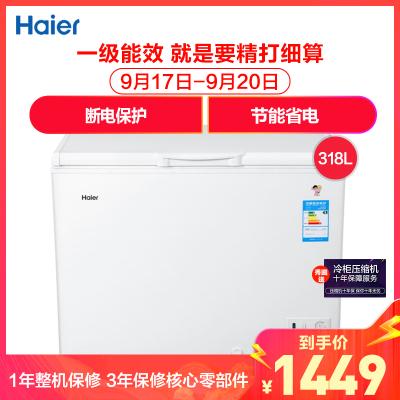 海爾(Haier)BC/BD-318HD 318升商用大冰柜 家商兩用 大動力冷柜 節能省電 斷電保護 多檔調節