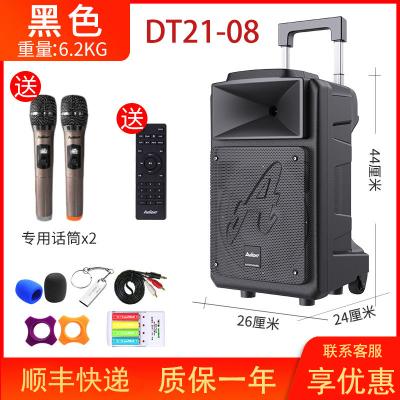 愛浪(AVLIGHT)DT21廣場舞音響戶外K歌無線藍牙音箱家用移動拉桿大音量重低音帶麥克風話筒 8吋