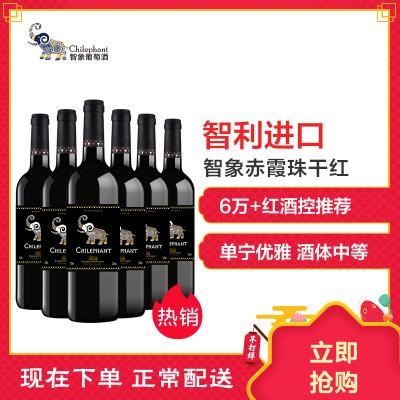 智利进口红酒 智象赤霞珠干红葡萄酒750ml*6瓶 整箱装
