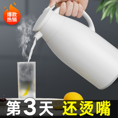 JEKO&JEKO 大容量保溫壺開水瓶玻璃內膽家用熱水瓶保溫瓶辦公室水壺暖瓶保溫杯暖水瓶1.6L灰色 SWH-1604