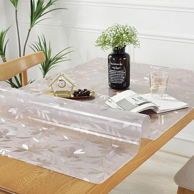 美幫匯長方形桌布透明pvc防水防油防燙免洗茶幾墊桌面墊膠墊塑料水晶板
