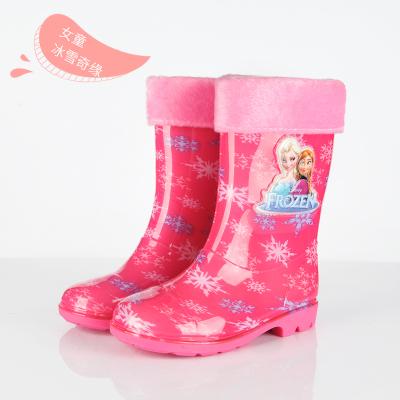 2019兒童雨鞋女防滑防水雨靴加絨保暖寶寶中筒中大童男童水鞋小童膠鞋