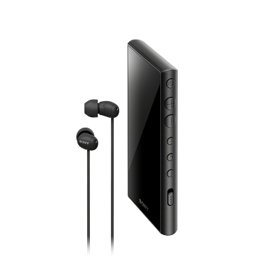 索尼(SONY)NW-A105HN 無線Hi-Res 安卓9.0 高解析度 無損音樂播放器 MP3 附帶降噪耳機 黑色