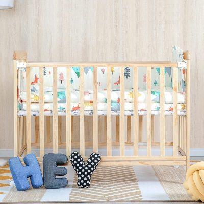 【新品】小米生态链 贝影随行多功能婴儿床儿童拼接实木床儿童床