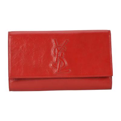 【正品二手95新】YSL紅色漆皮浮雕手包 10006389