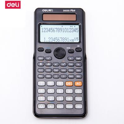 得力deliD82ES 多功能科學函數計算器計算機中文版高考學生kao試用 黑色