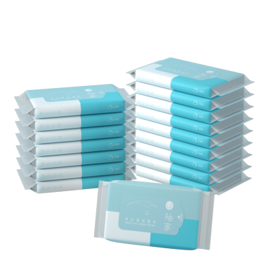 柚家手口清潔濕巾10片裝*30包便攜式濕巾手口專用