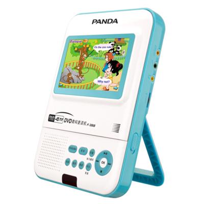 PANDA熊猫F-388锂电池充电复读机CD播放机可视可放光碟碟片小型便携式DVD机可插U盘随身听学生儿童英语学习机蓝色