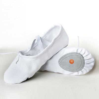 熱賣兒童舞蹈鞋軟底貓爪幼兒園形體考級大碼帆布瑜伽女童芭蕾舞練功鞋