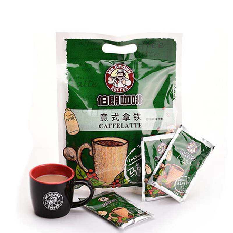 MR.BROWN伯朗咖啡意式拿铁三合一即溶咖啡饮料 27g*15小袋
