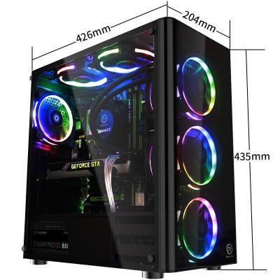Tt機箱 啟航者V3 黑色 ATX中塔機箱 全側透水冷背線電腦機箱
