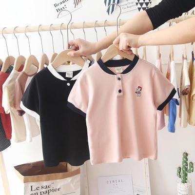 2020夏季韓版兒童寶寶T恤男童短袖休閑翻領POLO衫潮童嬰兒打底衫威珺