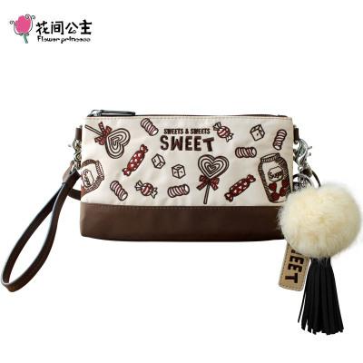 花间公主SWEET2020春季刺绣文艺斜挎单肩包手拿尼龙布女包