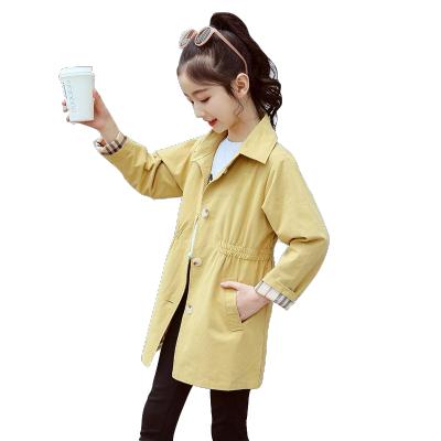 童裝女童秋裝2019新款韓版洋氣兒童中大童中長款風衣春秋季外套潮 莎丞