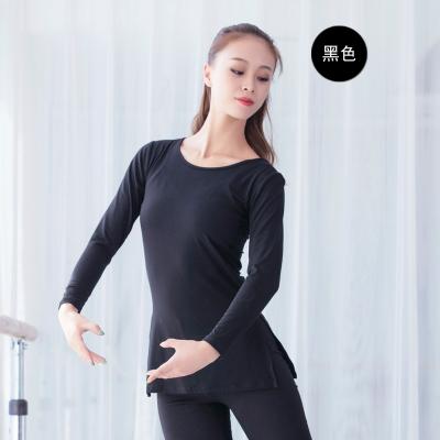 舞蹈练功服上衣秋新款成人女长袖现代舞服基训芭蕾舞形体服古典舞