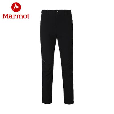 Marmot/土撥鼠秋冬新款戶外男防潑水透氣M3軟殼褲
