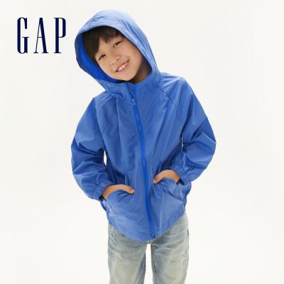 Gap男童休閑防曬衣夏季540245 2020新款洋氣童裝純色薄款防曬服