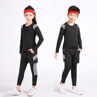 18公主(SHIBAGONGZHU)兒童緊身衣訓練服套裝男女大童籃球足球跑步健身服運動打底速干衣