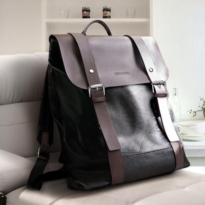 双肩包男士背包男生休闲旅行包时尚潮流书包男包商务电脑简约