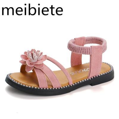兒童涼鞋女小公主鞋子軟底韓版女孩10歲學生夏季時尚水晶白色童鞋