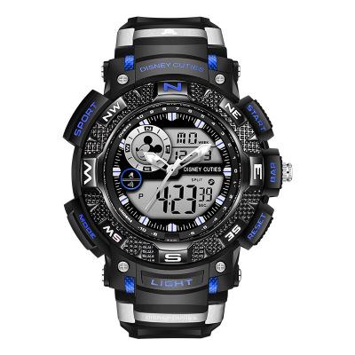 迪士尼(Disney)手表 中学生手表男孩户外运动表男生手表防水夜光电子表