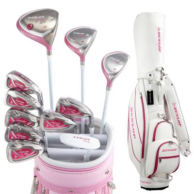 登路普(DUNLOP) 高尔夫球杆 套杆 女士全套球杆 钛合金碳素杆 TOUR-PINK系列新款