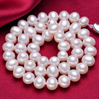 海瞳 近圆经典百搭 淡水珍珠项链 礼物送长辈妈妈爱人 几乎无瑕珍珠项链 珍珠首饰