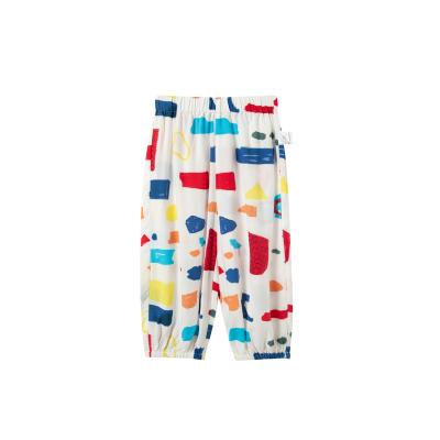 迷你巴拉巴拉女童防蚊褲長褲2020夏新款薄款母女裝洋氣褲子親子裝