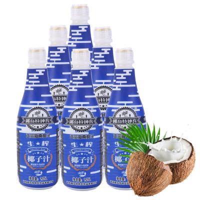 海南生榨椰子汁1.25L*6瓶箱装 椰岛特种兵椰子汁果肉果汁植物蛋白饮料7500