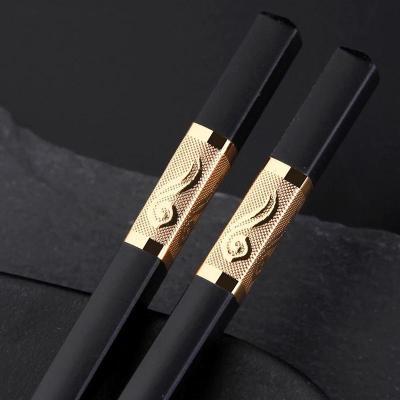 家庭家用高檔合金筷子10雙防霉防滑酒店適用快子套裝非實木