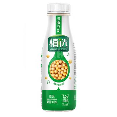 伊利 植選濃香豆乳原味PET裝315ml*10盒(禮盒裝)營養高蛋白0膽固醇豆奶早餐奶