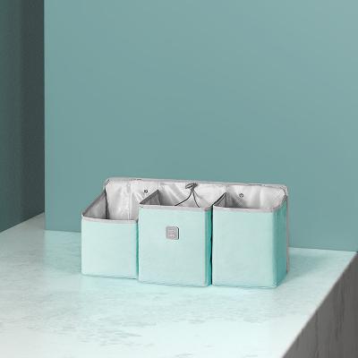 babycare嬰兒床掛袋寶寶尿不濕收納袋掛籃尿布包掛袋置物架可水洗 淺嗬綠 小號