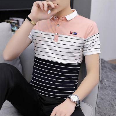 紫曼羽ZIMANYU2020新款夏季潮流男裝襯衫領POLO衫短袖T恤