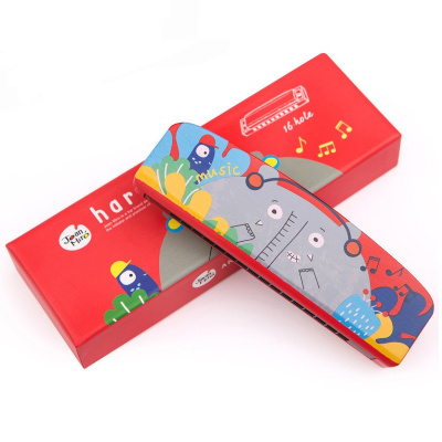 JoanMiro美乐 儿童口琴玩具宝宝初学音乐吹奏乐器卡通动物木质安全口风琴 小象曼尼款