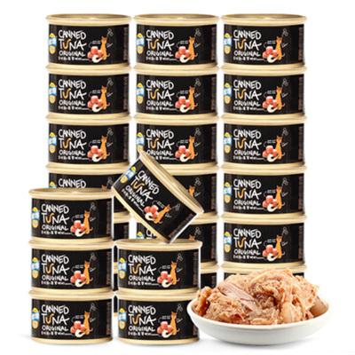優朗(U-BRIGHT)寵物貓用金槍魚及翡翠明蝦貓糧罐頭80克*24罐