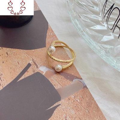 簡約珍珠戒指女ins潮韓版個性時尚食指氣質高級感網紅冷淡風指環 Chunmi