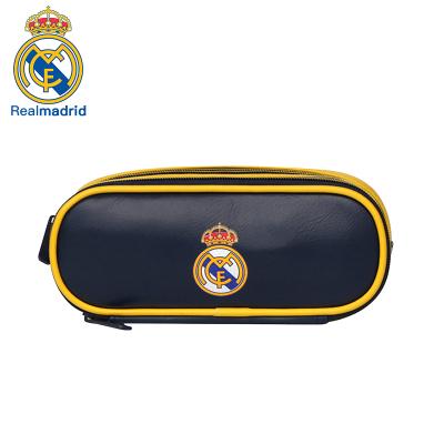 皇家馬德里Realmadrid官方正品時尚男女士多功能休閑包運動戶外商旅旅行手拿筆包文具包藍色