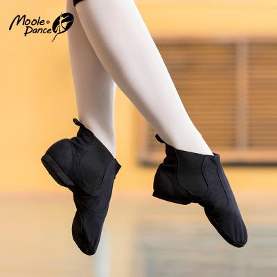小茉莉爵士舞鞋女高幫帆布舞蹈鞋軟底成人男女練功鞋爵士靴