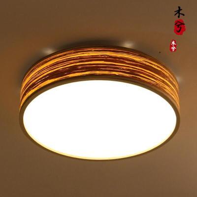 蒹葭led楼梯灯吸顶灯 简约客厅榻榻米卧室吸灯现代阳台过道走廊灯具 咖啡色直径46*11cm