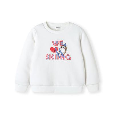 巴拉巴拉女童卫衣秋冬小童宝宝长袖圆领上衣儿童加厚保暖休闲套头