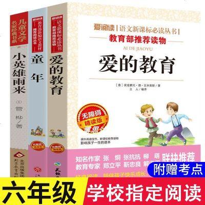 0710完整版六年級上課外書必讀全套小英雄雨來書童年高爾基正版愛的教育原著適合小學生三四五年級課外閱讀書籍小升初老師