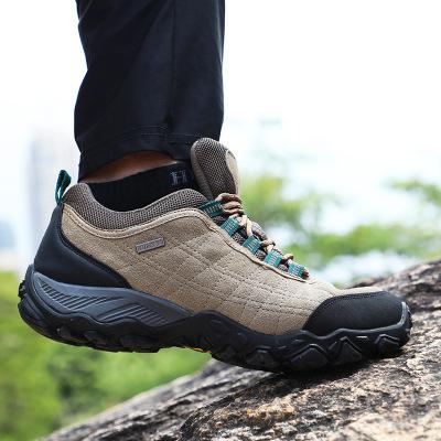 美國悍途戶外登山鞋男耐磨徒步鞋爬山防滑鞋女輕便真皮戶外鞋秋冬