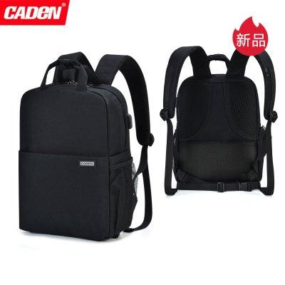 卡登(CADEN)L5二代 佳能 尼康 索尼专业防水双肩单反相机包 多功能时尚笔记本电脑背包 情侣男女户外旅行双肩摄影包