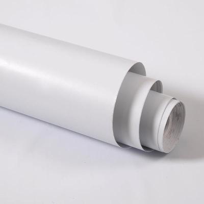 白色墻紙自粘防水可擦洗 閃電客自貼壁紙家用臥室防潮pvc宿舍純色即時貼