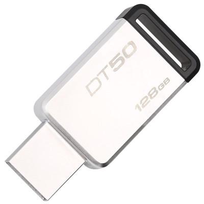 苏宁自营金士顿(Kingston)USB3.1 128GB 金属U盘 DT50 黑色