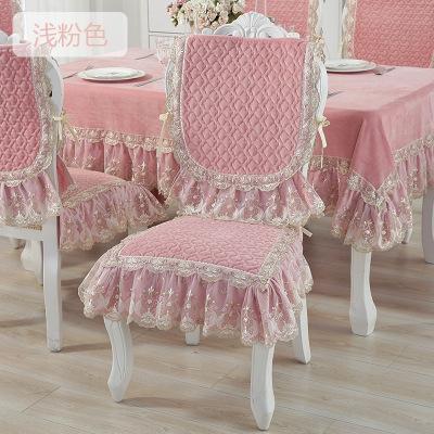 歐式凳子套罩餐廳椅子餐椅餐桌椅子墊坐墊桌布套裝靠背家用座椅套