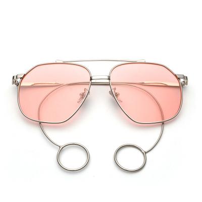 木清清 薛之谦明星同款太阳镜男个性大框透明彩色墨镜女复古近视平光眼镜